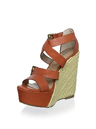 Charles David Women's Native Wedge Sandal (Orange Leather)