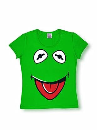 Logoshirt Mujer Camiseta Muppets - Cara - Kermit (Verde)