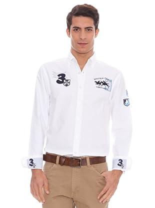 Valecuatro Camisa Parche (blanco/azul claro)