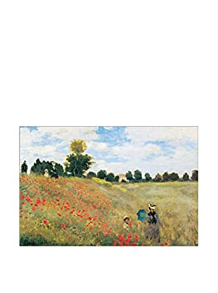 Artopweb Panel Decorativo Monet Coquelicot 90x60 cm Bordo Nero