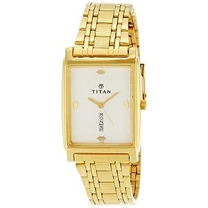 Titan Analog White Dial Men's Watch - NE1165YM01