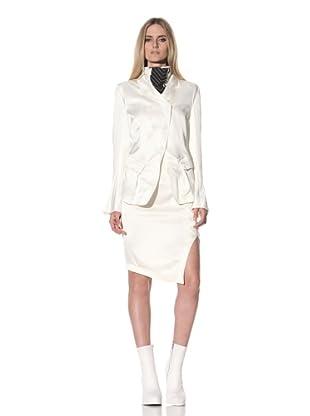 Ann Demeulemeester Women's Satin Blazer (Off-White)