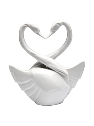 Perfect Wedding Swan Porcelain Cake Topper