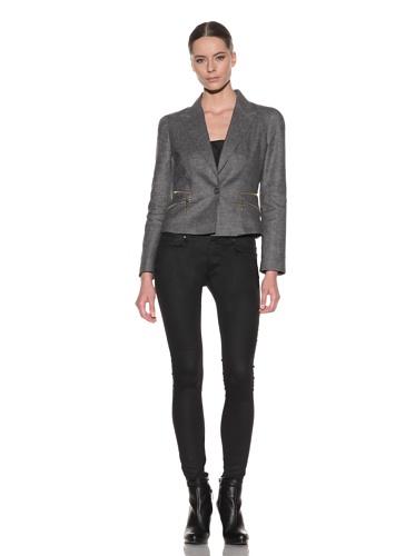 McQ by Alexander McQueen Women's Zip Fitted Jacket (Grey)