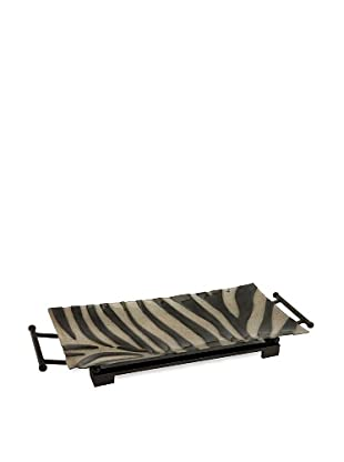Carolyn Kinder Grevy's Glass Tray with Metal Stand