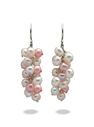 Valero Pearls 60200132 - Pendientes de mujer de plata con perla cultivada de agua dulce, 5 cm