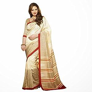 Esha Deol Bhagalpuri Silk Printed Beige Saree - 10945