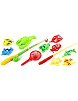 Deluxe Gone Fishing Toy Activity Roleplay Pretend Play Set w/ Variety of Fishing Accessories