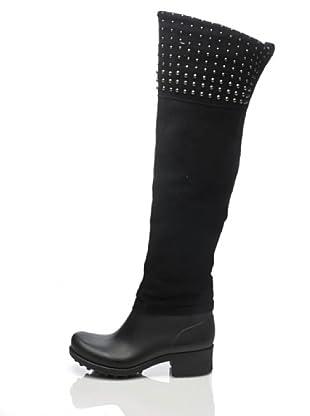Apepazza Stiefel im Materialmix (Nero)