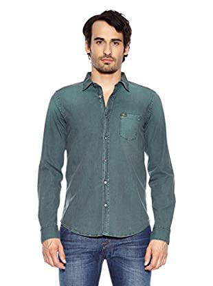7 For All Mankind Camisa  Bibb (Verde)