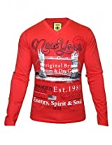 1st Attitude Red Full Sleeves T Shirt