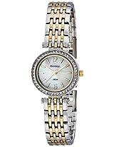 """Armitron Women's """"75/5229MPTT"""" Swarovski Crystal-Accented Two-Tone Bracelet Watch"""