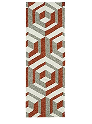 Kaleen Escape Indoor/Outdoor Rug, Paprika, 2' x 6' Runner