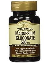Windmill Vitamins Magnesium Gluconate 500 mg 90 Tabs