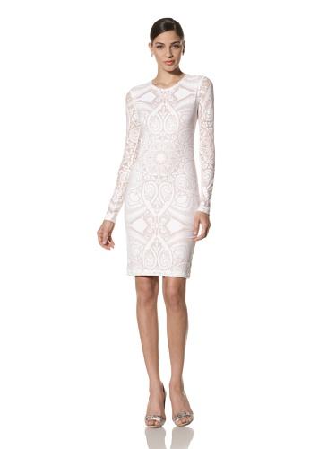 Jonathan Saunders Women's Devore Long Sleeve Dress (Optic Whtie)