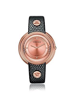 Versace Women's VA7040013 Thea Black Leather Watch