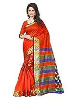 Shree Sanskruti Red Color Tassar Silk Saree For Women