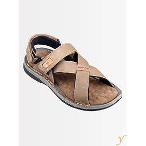 Lee Cooper Men LC 767 Olive Velcro Backstrap Sandals
