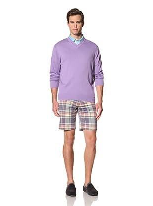 Bobby Jones Men's Pima V-Neck Sweater (Orchid)