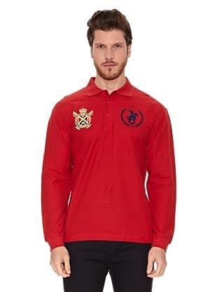 Polo Club Polo Manga Larga Custom Fit (Rojo)