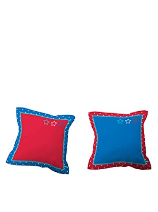 Lief Funda de Cojín Basic Boy Blue (azul / rojo)