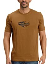 Fritzberg Men's Round Neck T-Shirt (5623791630301_Small_Brown)