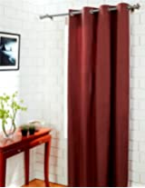 House This 100% Cotton 1 Window Curtain Solid Brown