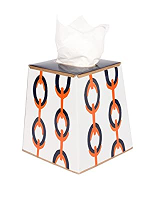 Jayes Chains Tissue Box Cover, Orange