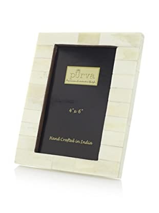 Purva White Bone Uneven Photo Frame