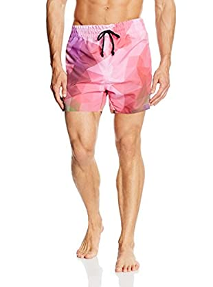 Mr. GUGU & Miss GO Shorts da Bagno Violet Geometric