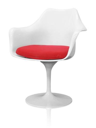 Tulip Arm Chair, White