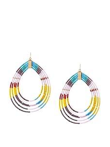 nOir Multicolor Loopy Earrings
