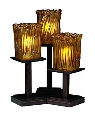 Justice Design Group Veneto Luce 3-Light Montana Table Lamp, Dark Bronze