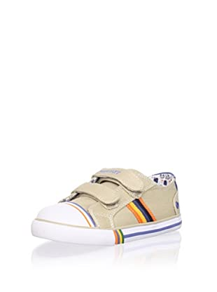 Pablosky Kid's Striped Sneaker (Beige)