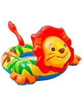 Intex Lion Shaped Deluxe Inflatable Animal Pool Ring Paddling Float for 3 - 6 Year Kids and Children
