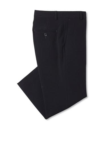 Calvin Klein Boy's 8-20 Bi-Stretch Flat Front Pant (Navy)