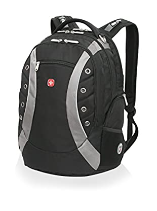 SwissGear Laptop Backpack with Sunglasses Holder and Audio Interface, Black
