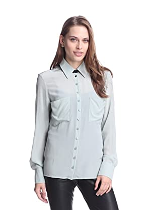 AS by DF Women's Marseilles Silk Blouse (Steel Sky Blue)