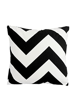The Pillow Collection Eir Zigzag Pillow, Black