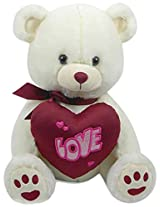 Archies Soft Toy Bear with Heart, Multi Color (25cm)
