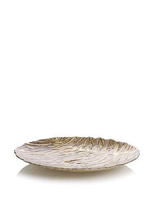 Arda Glassware Wild Cat Platter (Antique Beige/Brown)