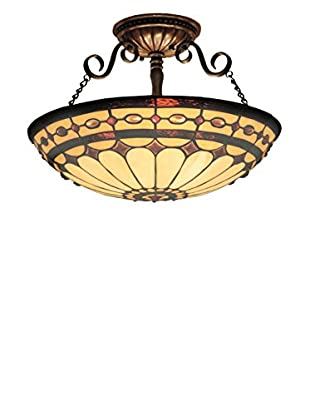 Artistic Lighting Diamond Ring 3-Light Semi-Flush, Burnished Copper