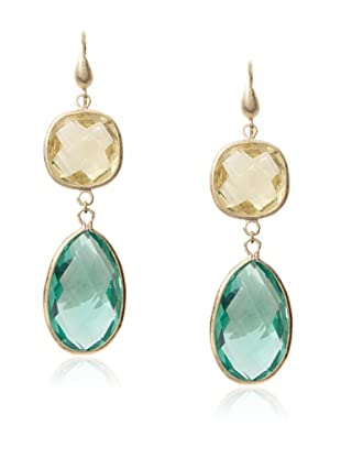 Rivka Friedman Canary & Capris Crystal Bold Double Dangle Earrings