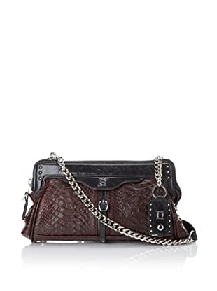 Olivia Harris Women's Embossed Frame Shoulder Bag (Red Python)