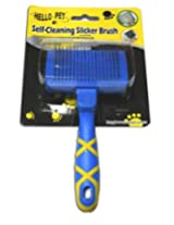 Super Dog Hello Pet Self Cleaning Slicker Brush Small