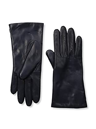 Portolano Women's Cashmere Lined Leather Gloves (Navy)