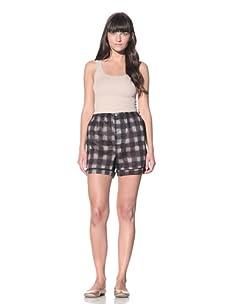 MARNI Women's Printed Boxer Shorts (Charcoal Grey)