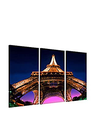 Contemporary Office Set Lienzo 3 Uds. Tour Eiffel By Night