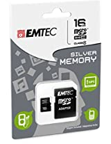 EMTEC 16 GB Class 4 Mini Jumbo Super MicroSDHC Memory Card with Adapter