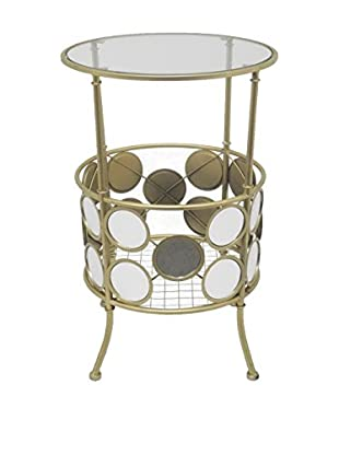 Three Hands Circles Accent Table, Gold